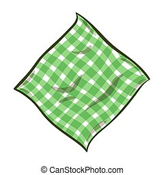 Cartoon Striped Napkin - Hand drawn striped green napkin...