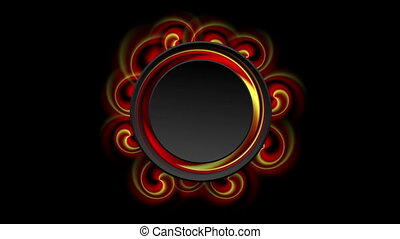 Red and yellow swirl shapes video animation
