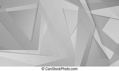 Polygonal grey shapes geometric video clip animation. Motion...