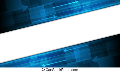 Blue technology video animation with arrows - Blue...