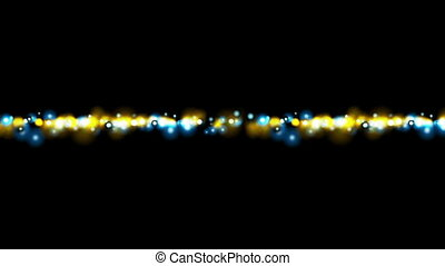 Blue and yellow glowing lights video animation - Blue and...