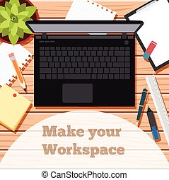 Make your workspace banner5 - Vector image of the workspace...