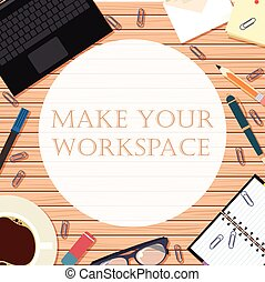 Make your workspace banner8 - Vector image of the workspace...