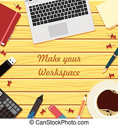 Make your workspace banner6 - Vector image of the workspace...