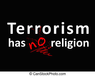 A protest against terrorism, the extremist organizations