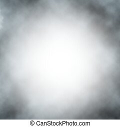 Vector fog background - Vector background of gray fog or...