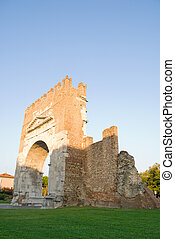 Arch of Augustus. - The Arch of Augustus in Rimini Italy.