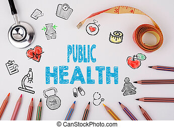 Public Health concept. Healty lifestyle background on a...