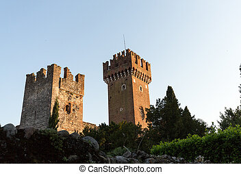 Scaligeri Castle  in Lazise at Lake Garda, Italy