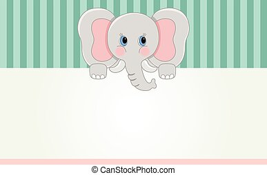 Baby elephant banner - Scalable vectorial image representing...