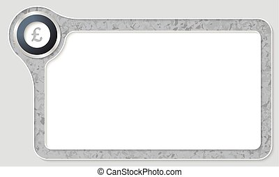 Vector frame for your text with marble pattern and pound...