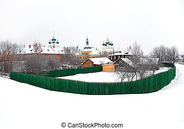 View of the city of Rostov, Russia, Yaroslavl region - A...