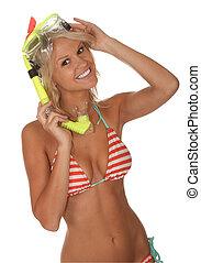 Bikini Girl with Scuba Mask