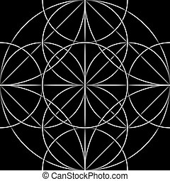 Celtic seamless pattern. Abstract ornament, geometric...