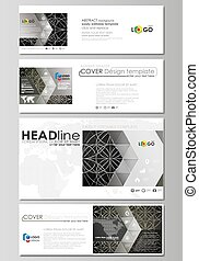 Social media and email headers set, modern banners. Business...
