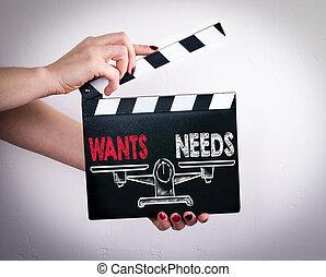 wants, necesidades, hembra, badajo, Película, balance,...