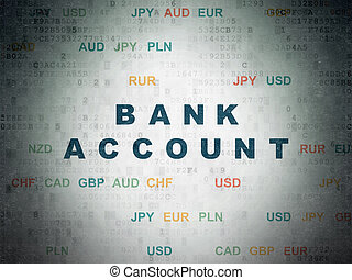 Money concept: Bank Account on Digital Data Paper background...