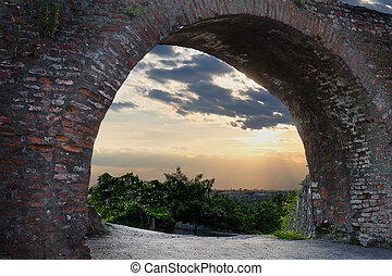 arch of the old castle