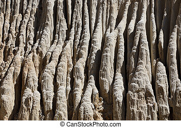 Natural clay pattern of canyon Fairy Stream - The natural...