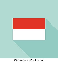 Indonesia flag , flat design vector with official proportion