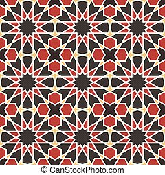 Oriental mosaic decoration. Morocco wall tiles. Vector...