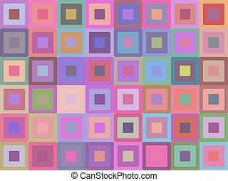 Seamless texture with bright pink squares. Vector background for wrapping paper, wallpaper and your creativity