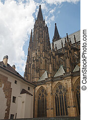 St. Vitus is a Roman Catholic cathedral situated in the Prague