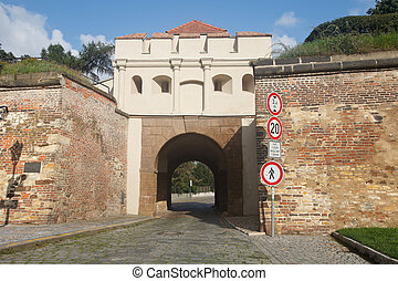 Tabor Gate (Taborska Brana) , the entrance to the fortress...