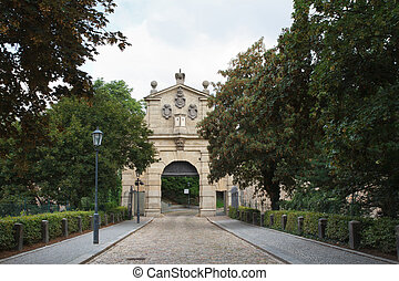 The Leopold Gate, Vysehrad, Prague. The entrance to the...