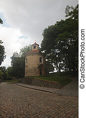 rotunda of St Martin  in Prague, Vysehrad, Czech republic