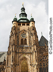 Cathedral of st. Vitus, Vaclav and Voiteha. Prague, Czech...