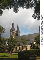 neo Gothic Basilica of St Peter and St Paul in Vysehrad...