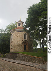Oldest Rotunda of St. Martin in Vysehrad, Prague, Czech...