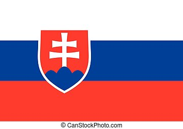 Official vector flag of Slovak Republic .