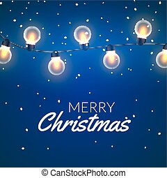 Christmas Lights vector illustration. Xmas colorful bright...