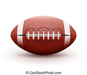 American Football ball isolated on white background. Vector...