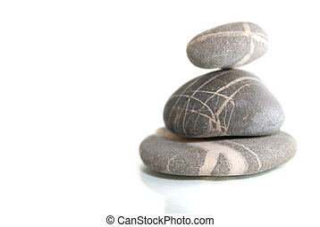 zen stones with reflection isolated