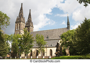 Basilica of St Peter and St Paul in Vysehrad fortress in...