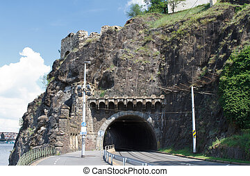 Visegrad tunnel. Prague. Czech Republic.