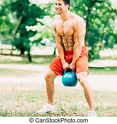 Crossfit training with kettle bell - Muscular crossfit...
