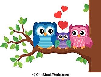 Owl family theme