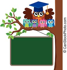 Owl teacher and owlets theme image 3 - eps10 vector...