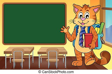 School cat theme