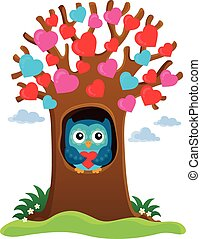Valentine tree theme image 1 - eps10 vector illustration.