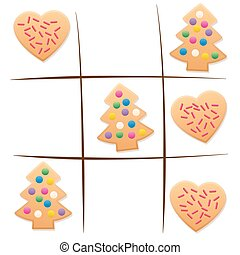 Leftover Cookies Tic Tac Toe Christmas Game - Leftover...