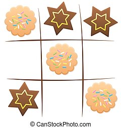 Christmas Game Fun Cookies Tic Tac Toe - Christmas game -...