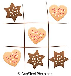 Christmas Tic Tac Toe Cookies Game - Christmas cookies - tic...