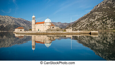 Church Our Lady of the Rocks in Perast, Montenegro