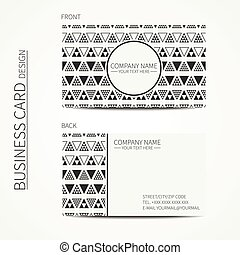 Vector simple business card design. Delta, trigon. Template....
