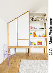 Cozy room for child - Vertical view of cozy room for child
